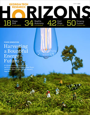 Cover image of Issue 1, 2016 of Georgia Tech's Research Horizons magazine