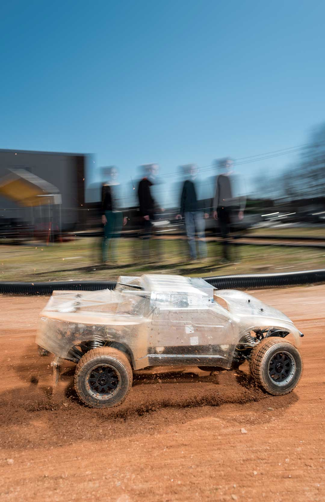 Photo of an autonomous vehicle at the Georgia Tech Autonomous Racing Facility