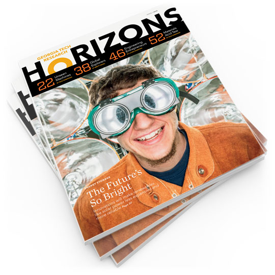 photo - stack of Research Horizons magazines
