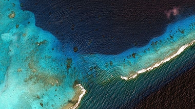Google Earth view of the ocean