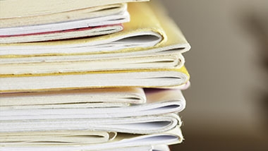 A stack of published journals