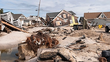 photo - storm damaged houses