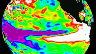 El nino peak warming