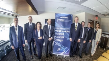 Georgia Tech and Airbus Executives Celebrate Center