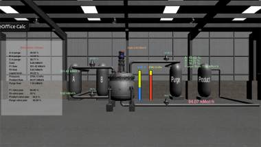 Chemical processing plant simulator