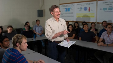 Researcher Bill Koros in the classroom
