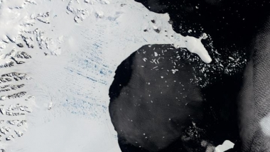 Larsen B ice shelf before collapse