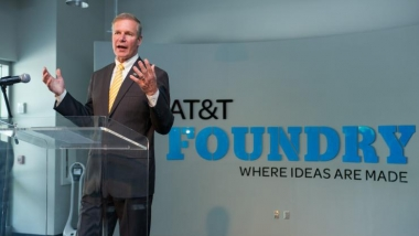 Research Horizons - Tech Square - Bud Peterson at Opening of AT&T Foundry