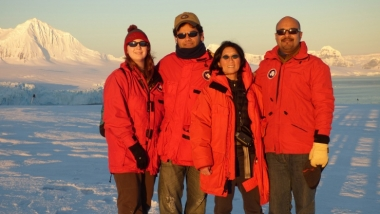 Jeanette Yen and Team in Antarctica