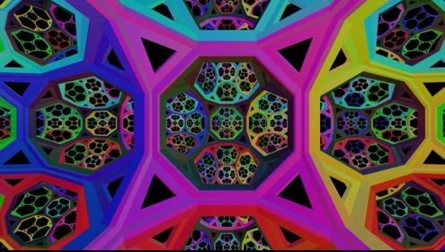 Computer generated image of hyperbolic space