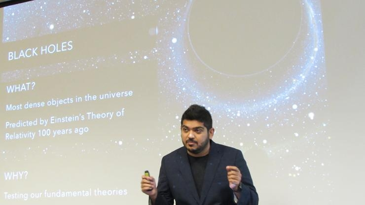 Karan Jani presents his research on Black Holes