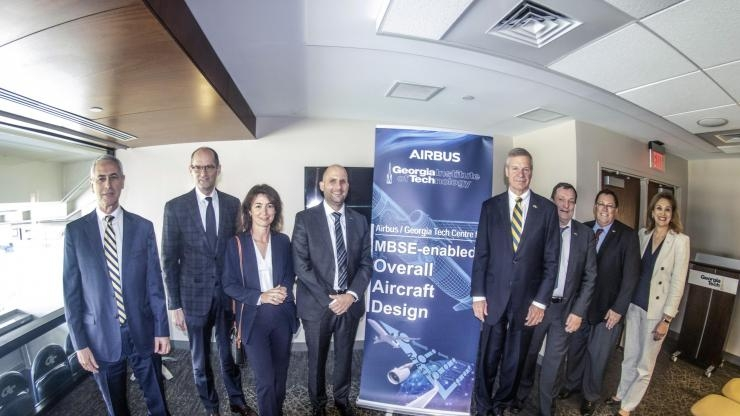 Georgia Tech and Airbus Executives Celebrate Center - 2