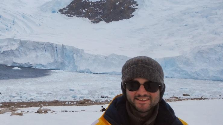 Alex Robel in Antarctica