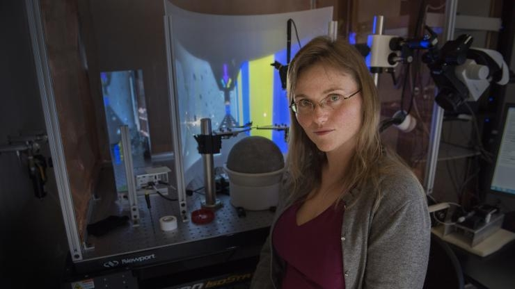Annabelle Singer in her BME lab