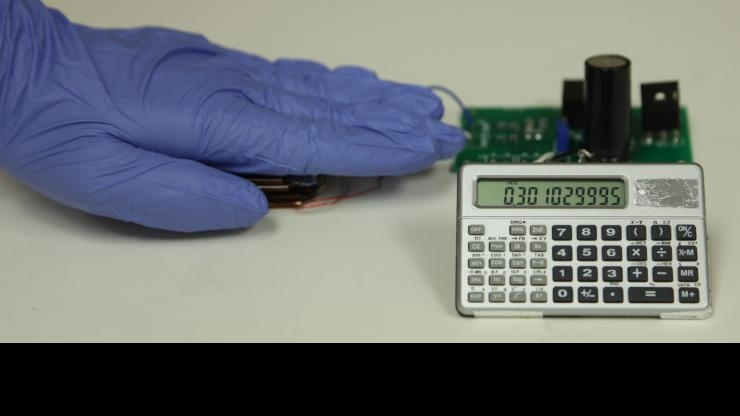 Nanogenerator powering calculator