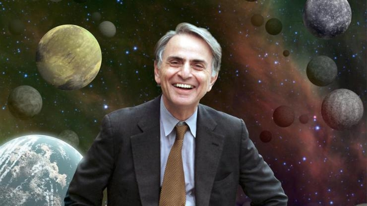 Carl Sagan portrait NASA