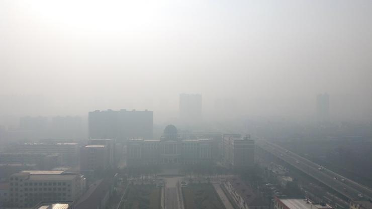 Winter haze in China