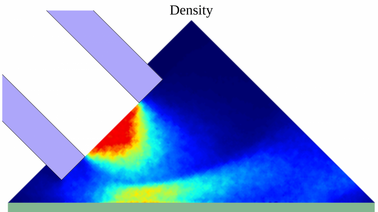 Density of supersonic gas jet