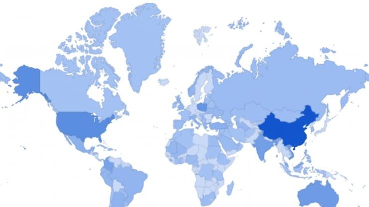 Map of worldwide promotional infections