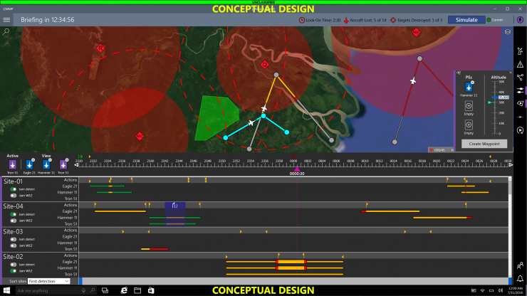 Screen capture of interface project