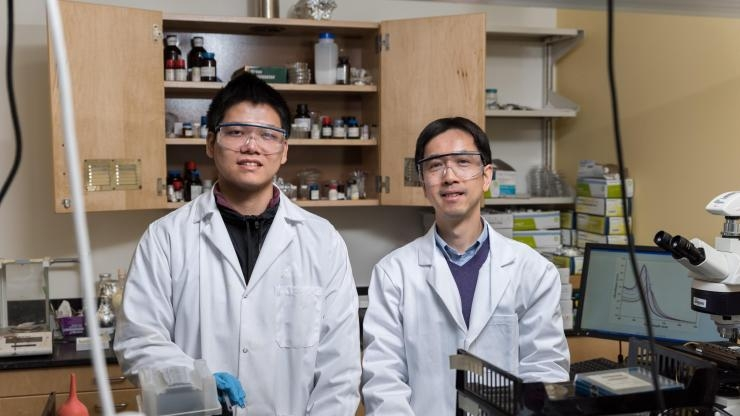 Researchers with hairy nanoparticles2