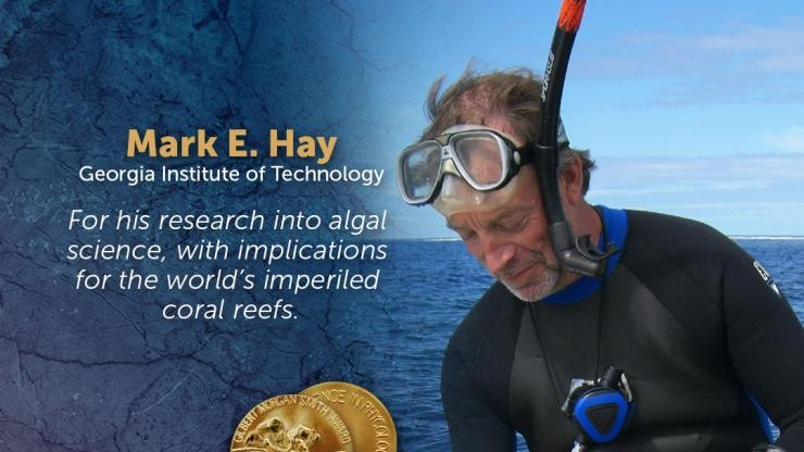 Mark Hay, Recipient of 2018 Gilbert Morgan Smith Medal (Courtesy of National Academy of Sciences)