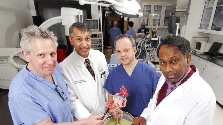 Research Horizons - Med Device - location on a heart model where their heart surgery system attaches