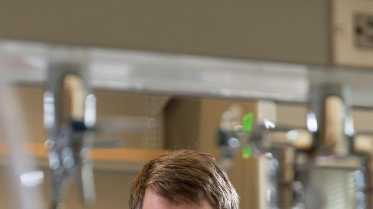 James Dahlman in lab