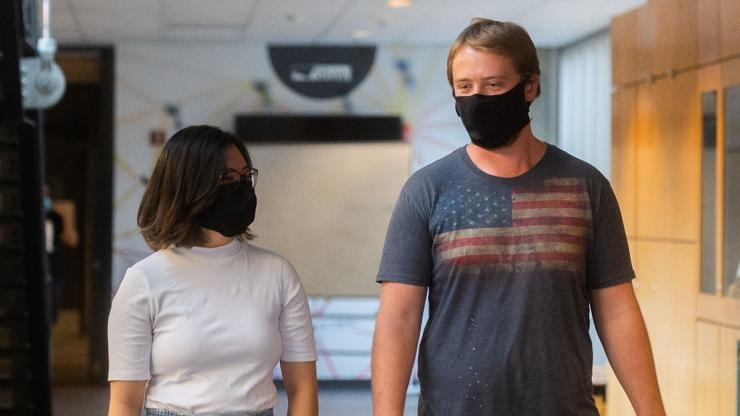 Students Wear Redesigned Face Mask