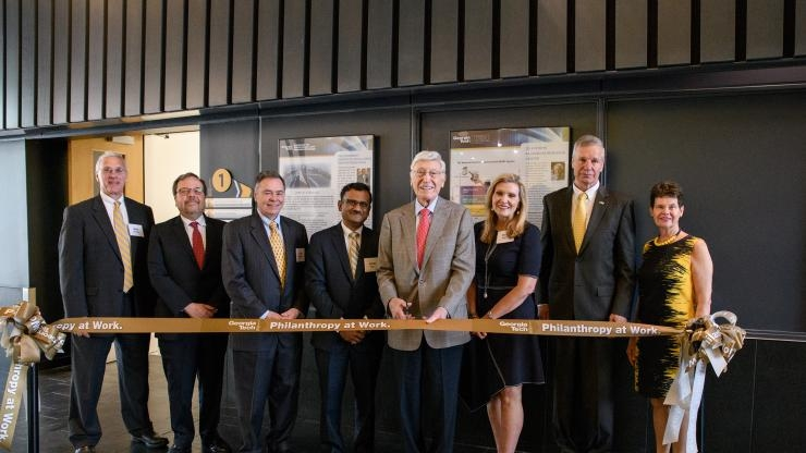 Ribbon-cutting at the new Good Manufacturing Practice facility