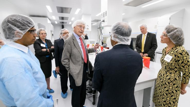Touring Good Manufacturing Practice facility