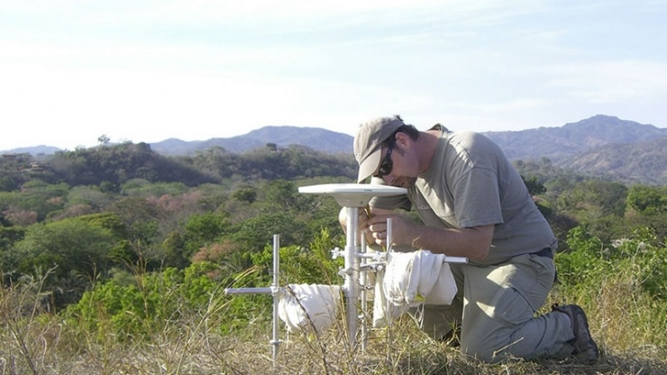 Andrew Newman Doing Field Work in Costa Rica in 2010