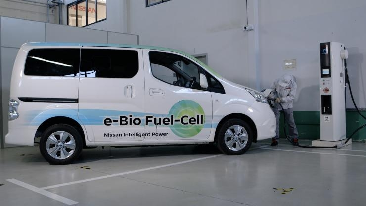 Nissan fuel cell prototype car