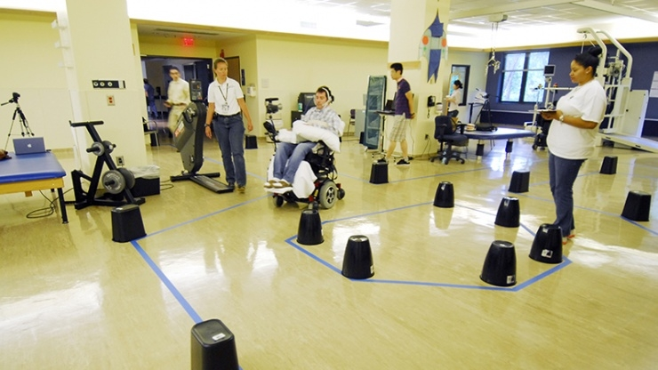 Wheelchair obstacle course