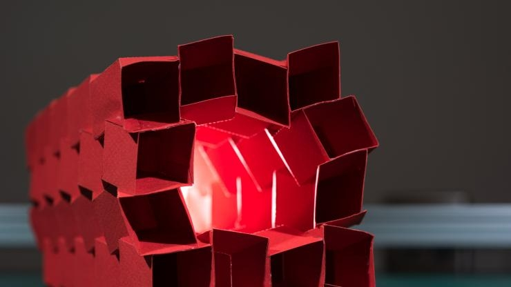 Origami structure of 12 tubes
