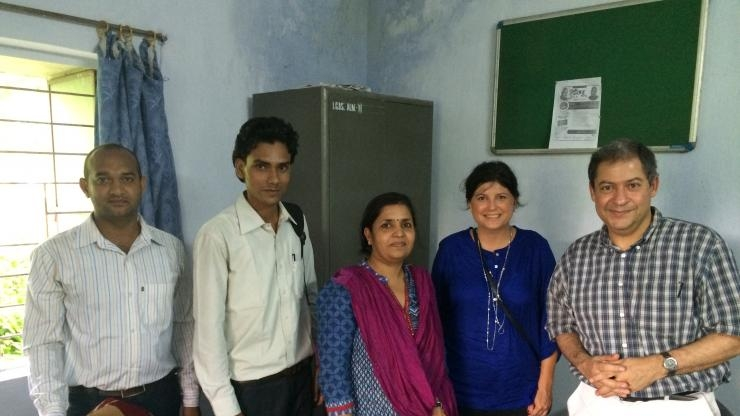 Meeting with a health officer in India.