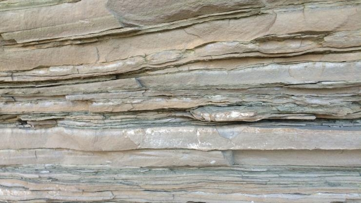 Layered sedimentary rock