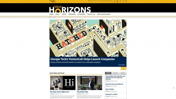 New Research Horizons website