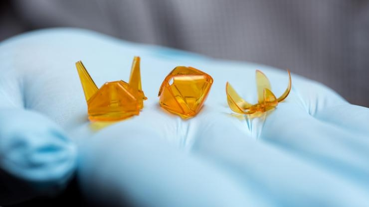 Self-folding origami structures