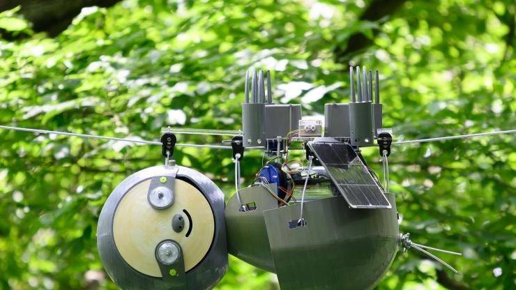 SlothBot operating in Atlanta Botanical Garden