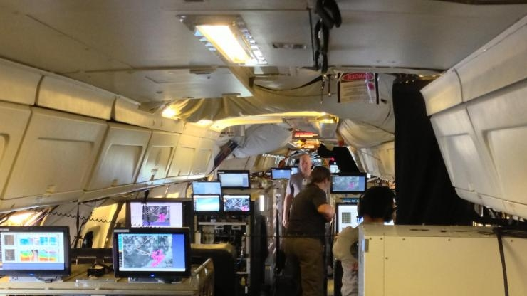 SEAC4Rs Mission plane interior with atmospheric instruments