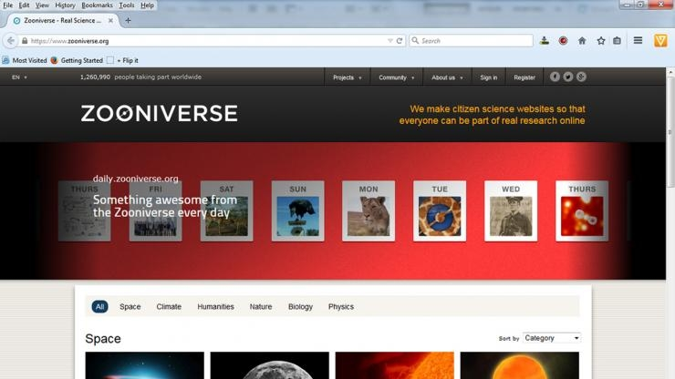 Zooniverse Home Page